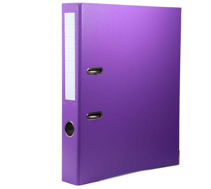 Регистратор А4 75 мм ПВХ фиолетовый арт. ТС-554S (034)