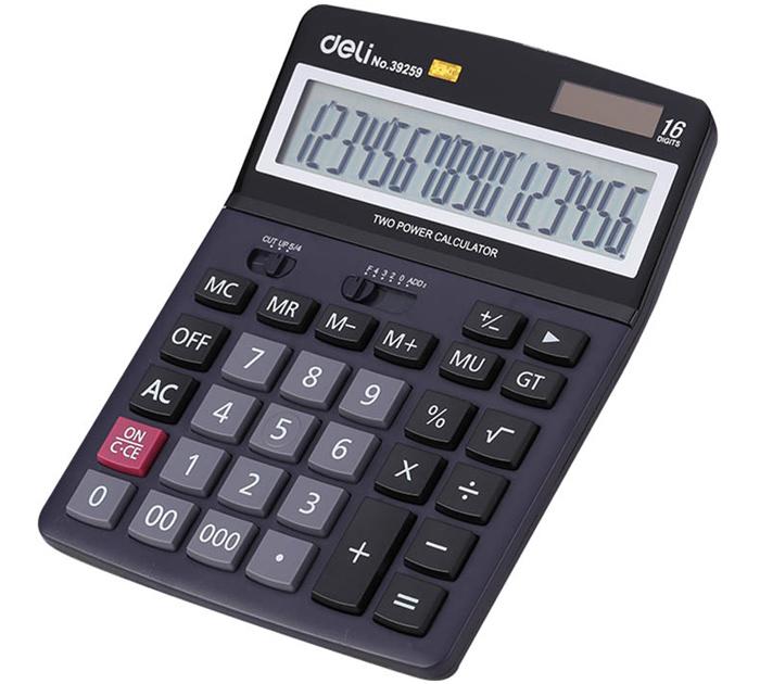 Калькулятор  16 разрядов настольный Deli арт 39259