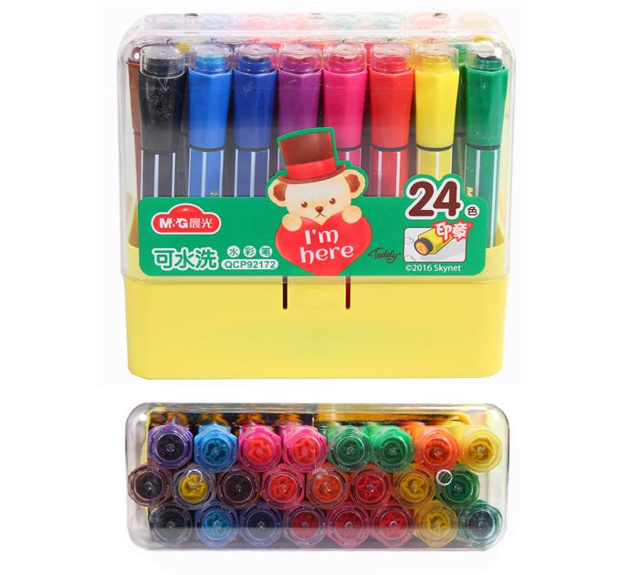 Фломастеры-штампы M&G 24 цвета TEDDY арт. 92172QCP